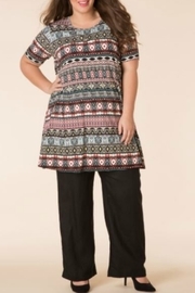 Yest Multicolored Tribal Top - Product Mini Image