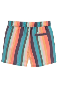 Paul Smith Junior Multicoloured-Striped 'Toshiro' Swim-Shorts - Alternate List Image