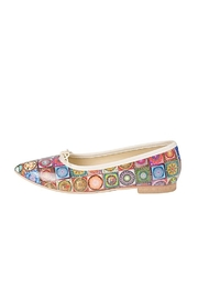 Misano Multicoloured-Tile Ballerina Flats - Front cropped