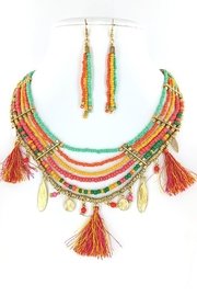 Nadya's Closet Multiple Chain Tassel-Necklace - Front cropped