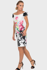 Joseph Ribkoff Multiple Foral Patterns Dress - Front cropped