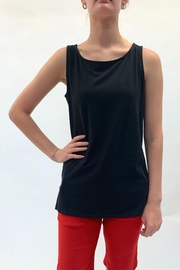 Multiples Basic Black Tank - Front cropped