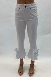 Multiples Crop Flare Bow Pants - Product Mini Image