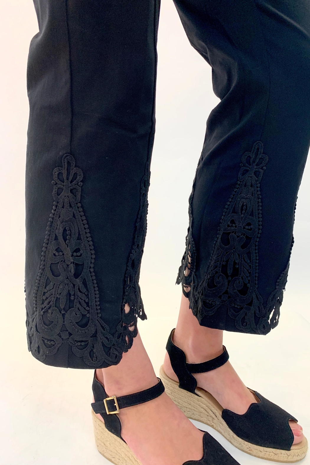 Multiples Lace Detailed Pant - Front Full Image
