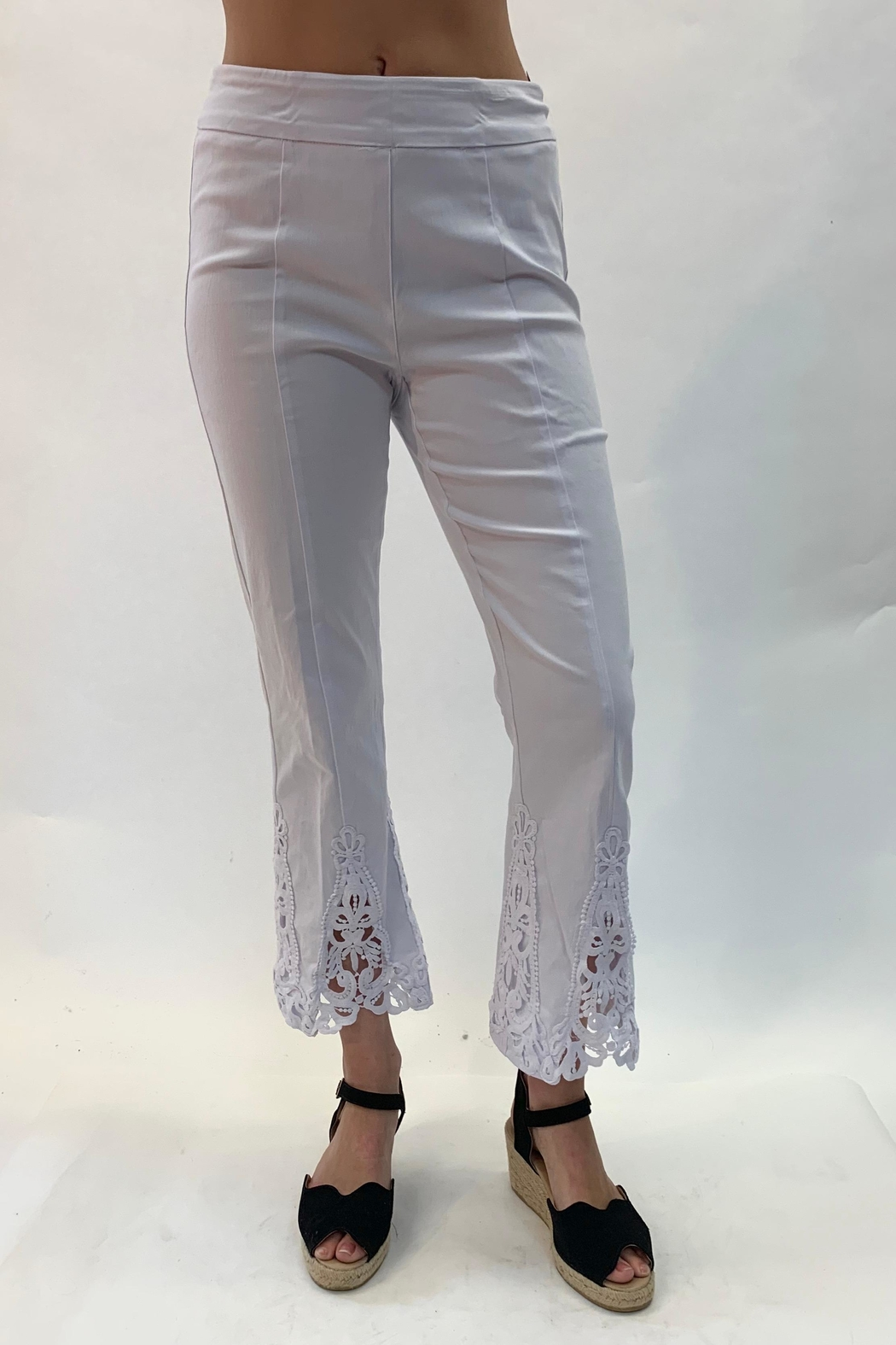 Multiples Lace Detailed Pant - Front Cropped Image