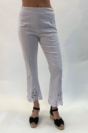 Multiples Lace Detailed Pant - Front cropped