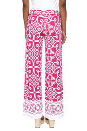 Multiples Palazzo Print Pant - Back cropped