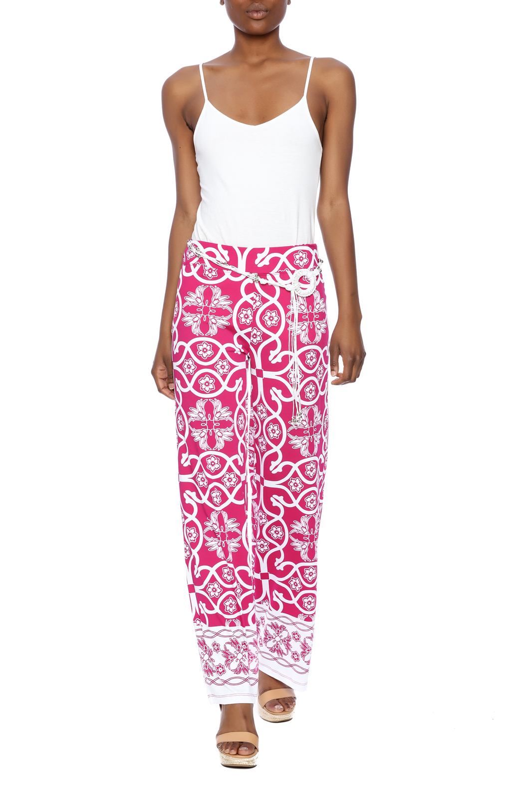 Multiples Palazzo Print Pant - Front Full Image