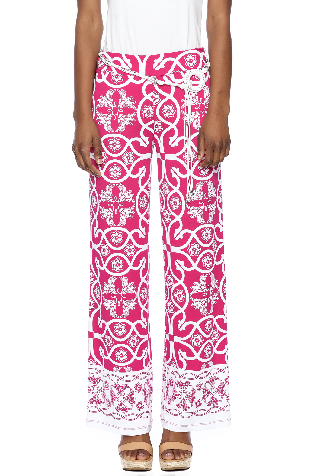 Multiples Palazzo Print Pant - Side Cropped Image