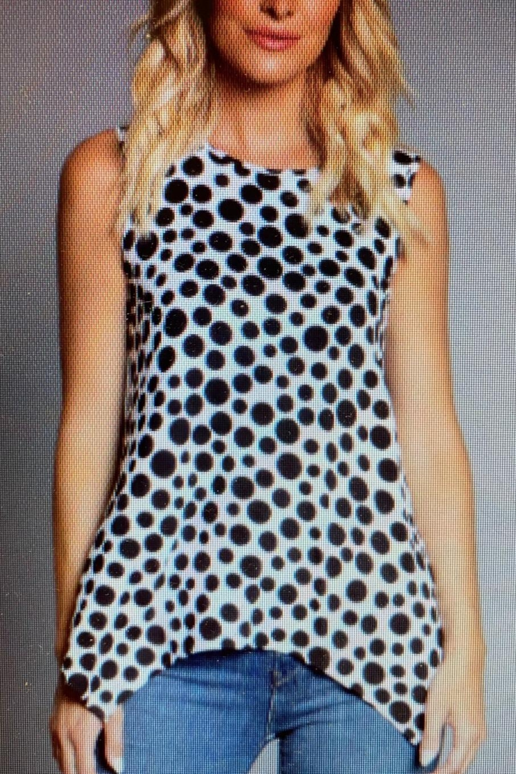 Multiples Polka Dot Top - Front Cropped Image