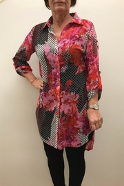 Multiples Print Duster Blouse - Product Mini Image