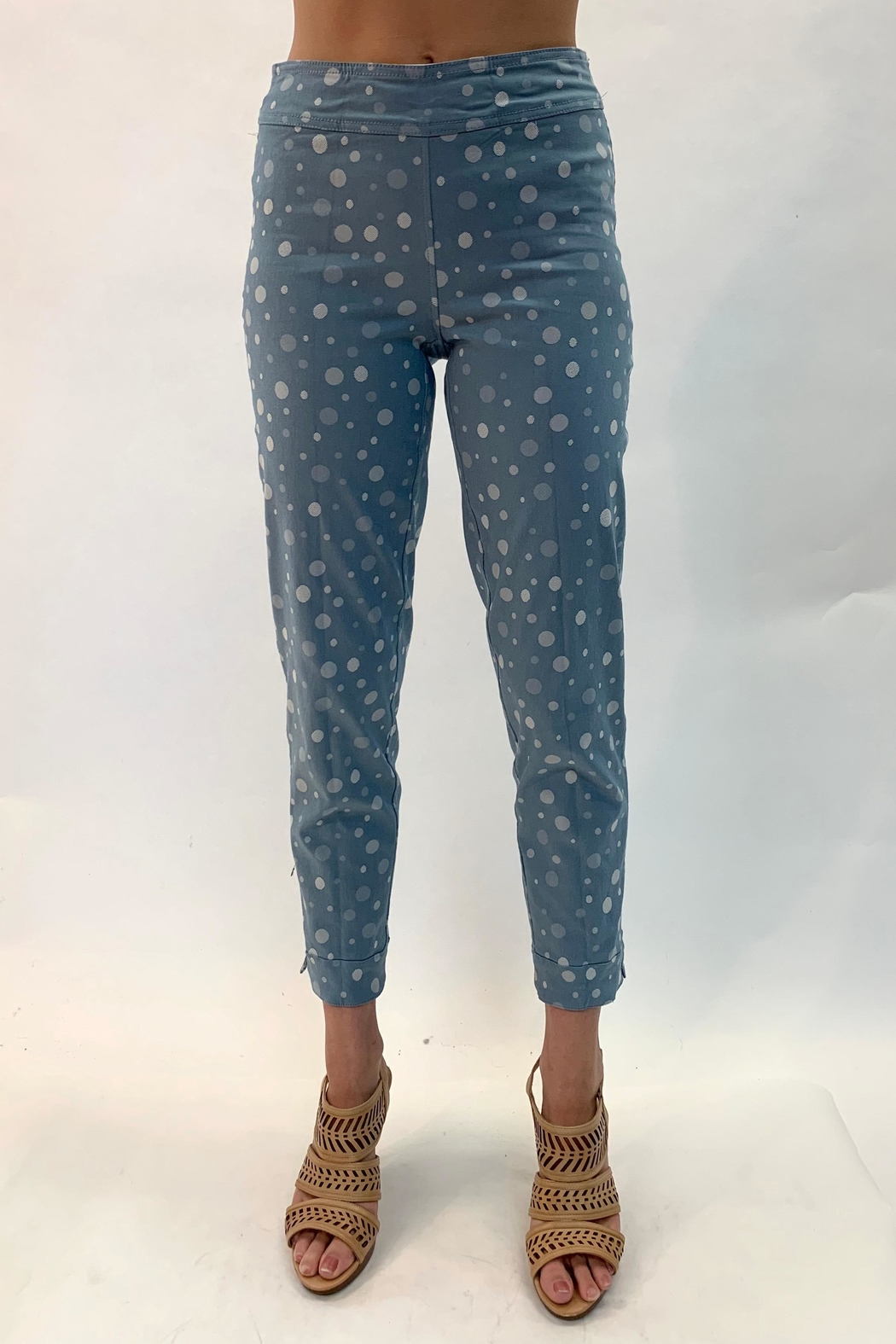Multiples Reversible Print Pants - Front Full Image