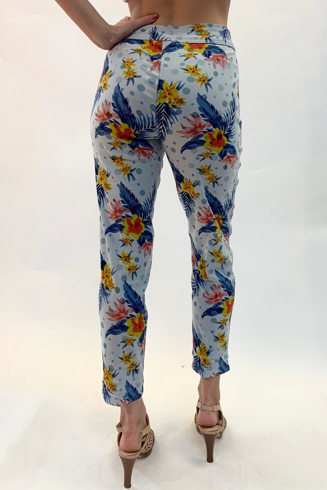 Multiples Reversible Print Pants - Side Cropped Image