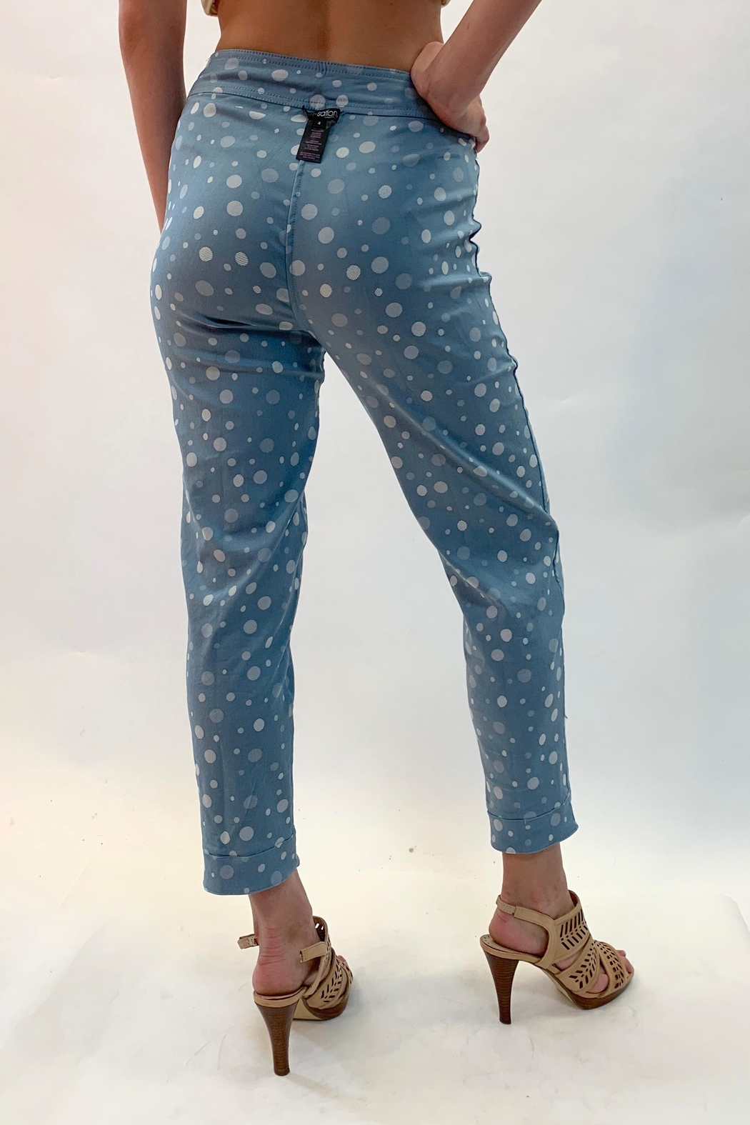 Multiples Reversible Print Pants - Back Cropped Image