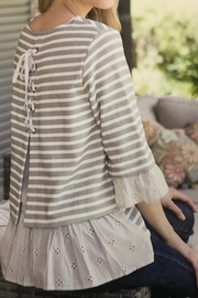 Multiples Ruffled Knit Top - Product Mini Image