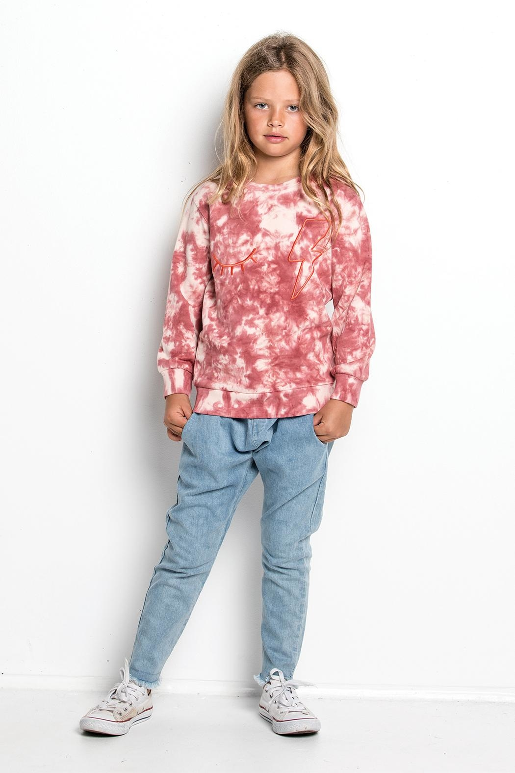 Munster Tie Dye Sweatshirt - Back Cropped Image