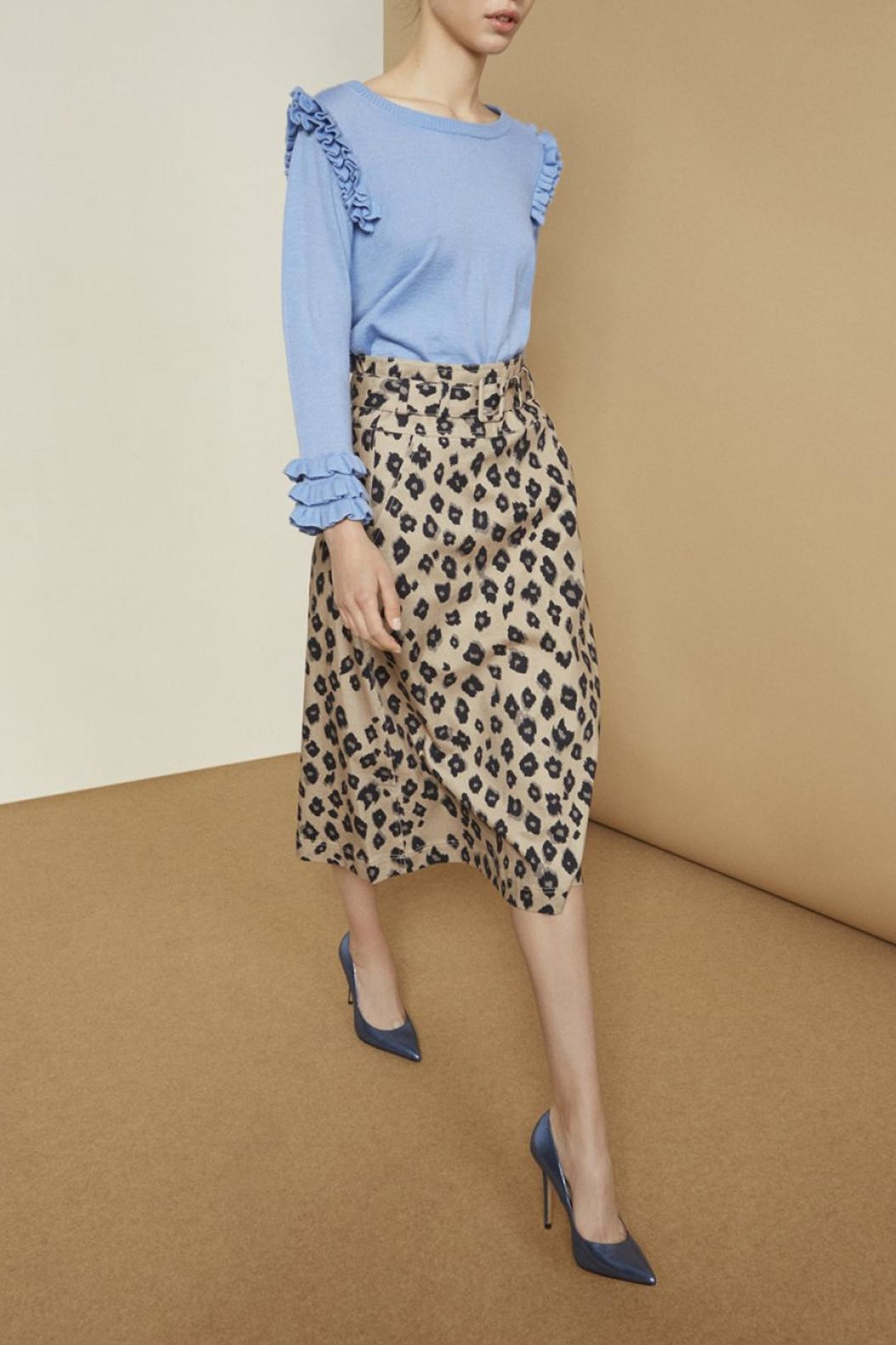 Munthe Calf-Lenght Skirt - Front Cropped Image