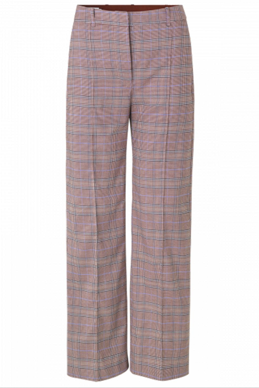 Munthe Checkered Pants - Side Cropped Image