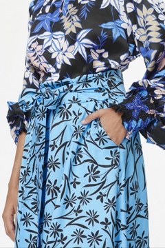 Munthe Feminine Skyblue Skirt - Alternate List Image