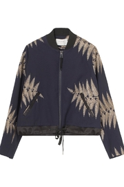 Munthe Gold Embroidered Bomber Jacket - Front full body