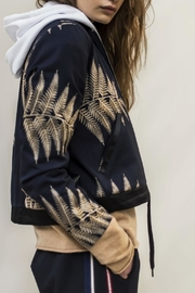 Munthe Gold Embroidered Bomber Jacket - Front cropped