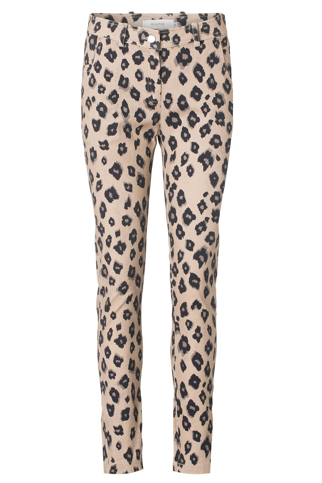 Munthe Leopard Print Jeans - Front Cropped Image