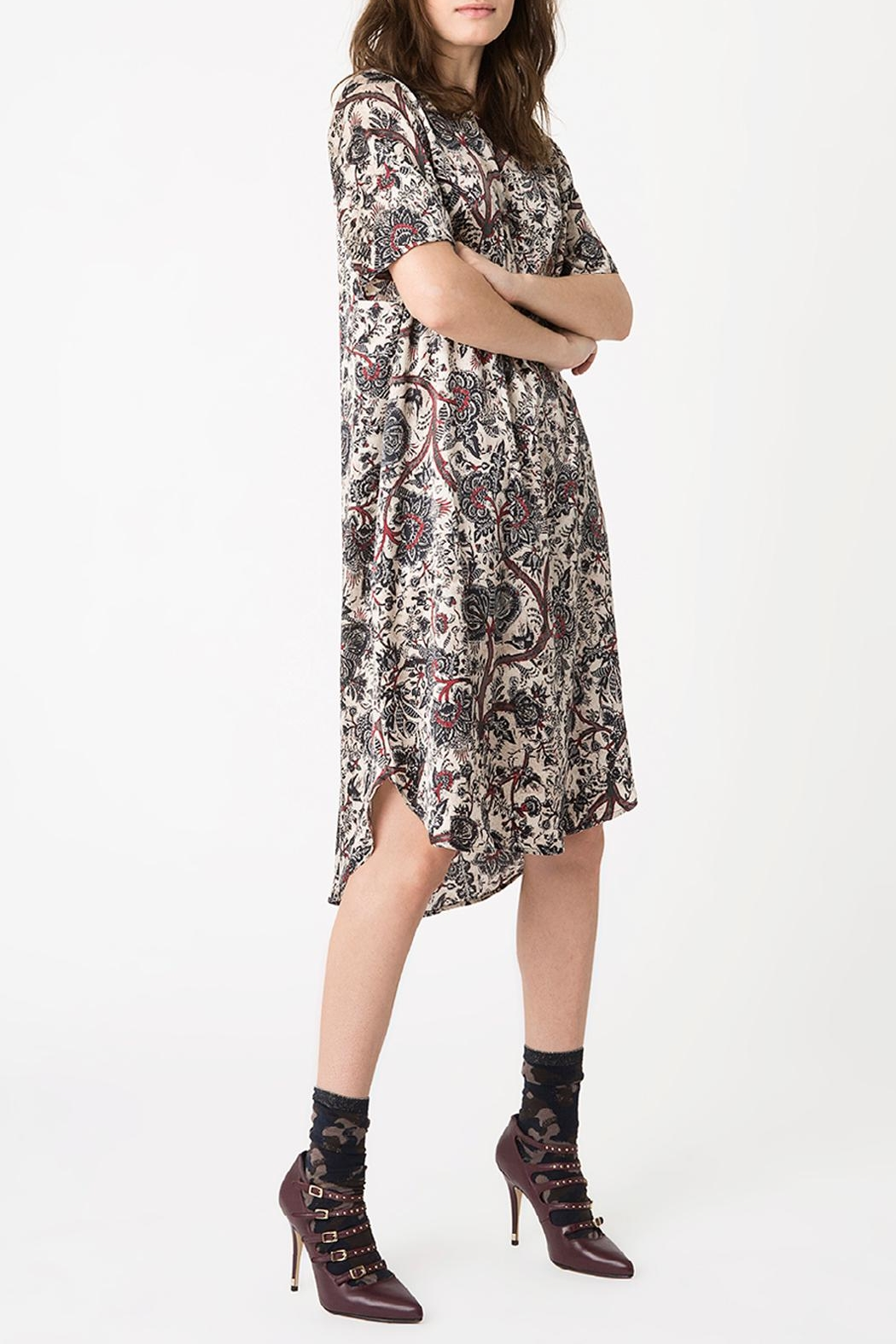 Munthe Silk Dress - Front Cropped Image