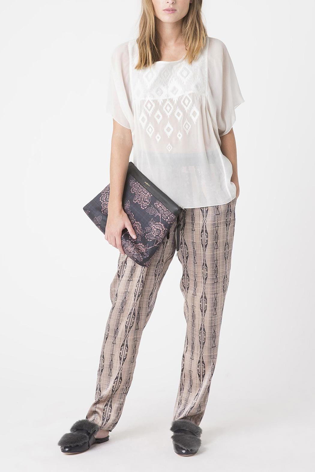 Munthe Silk Pants - Front Cropped Image