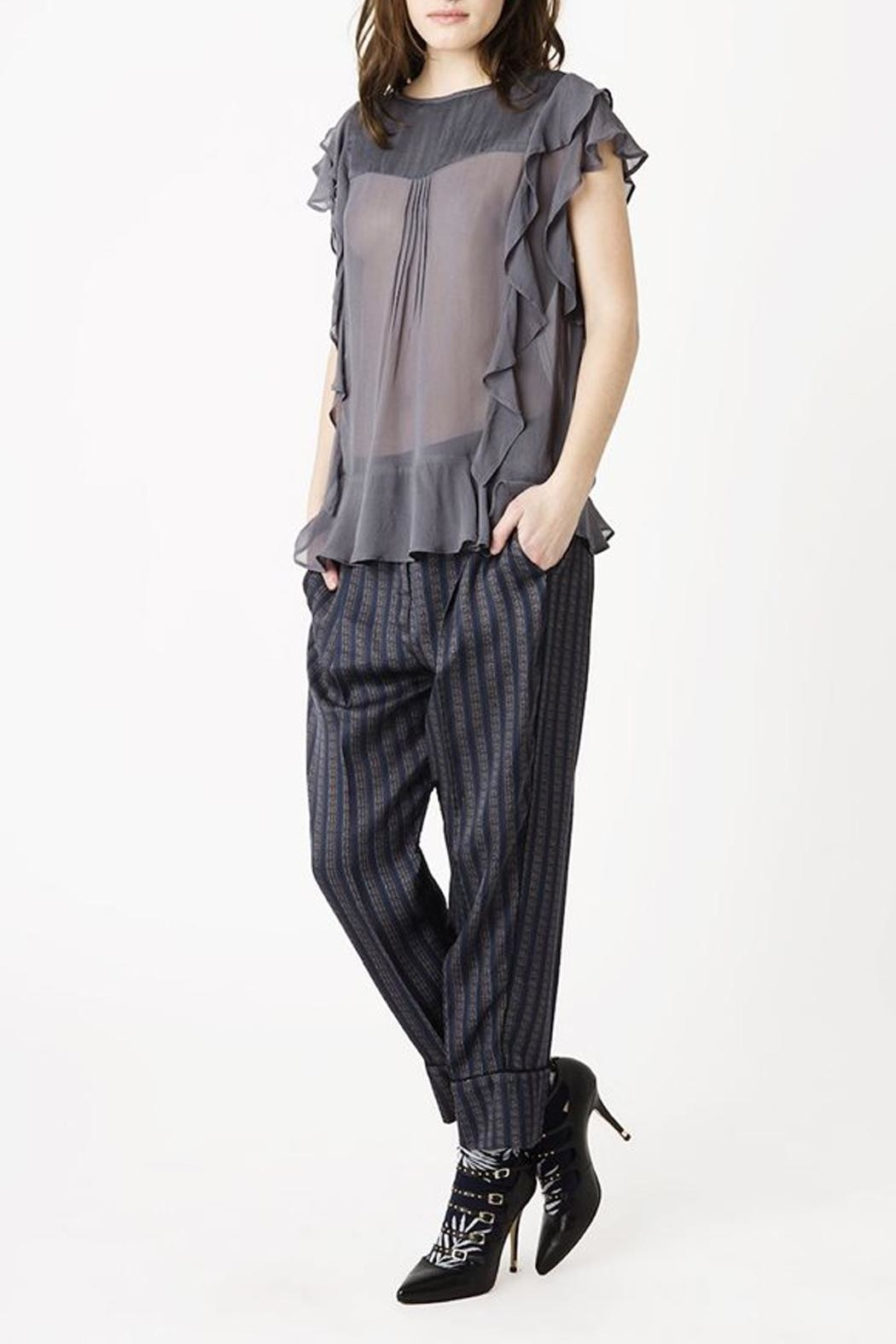 Munthe Hilary Stripe Pants - Front Cropped Image