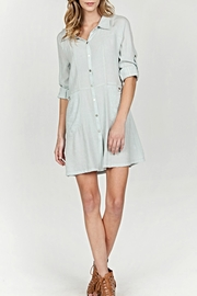 Mur Collar Shirt Dress - Product Mini Image