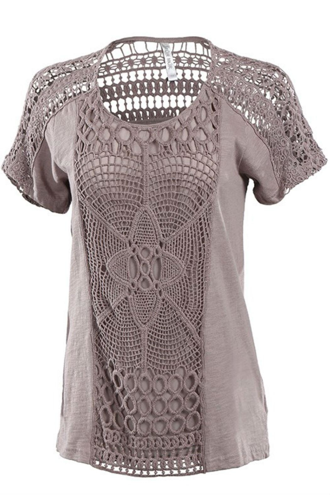 Mur Dune Crochet Top - Front Cropped Image