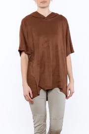 Mur Mur Brown Hooded Top - Product Mini Image
