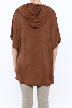 Mur Mur Brown Hooded Top - Alternate List Image