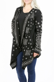 Mur Monoreno Asymmetrical Cardigan - Front full body