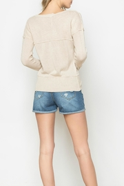 Mur Monoreno Contrast Collar Sweater - Front full body
