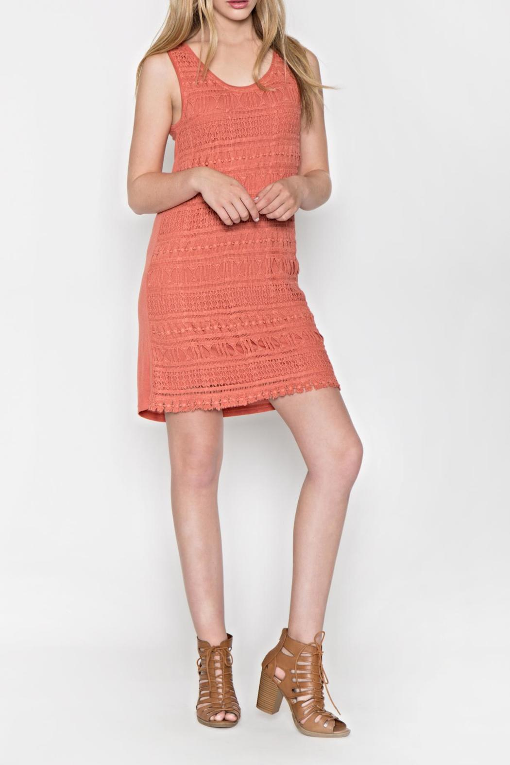 Mur Monoreno Crochet Cotton Dress - Front Cropped Image