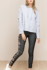 Mur Monoreno Embroidered Denim Leggings - Product Mini Image