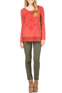 Shoptiques Product: Embroidered Fall Top