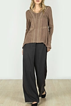 Mur Monoreno Embroidered Hi-Lo Top - Product List Image