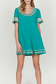 Mur Monoreno Embroidered Sleeve Dress - Product Mini Image