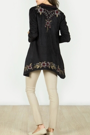 Mur Monoreno Embroidered Suede Cardigan - Front full body