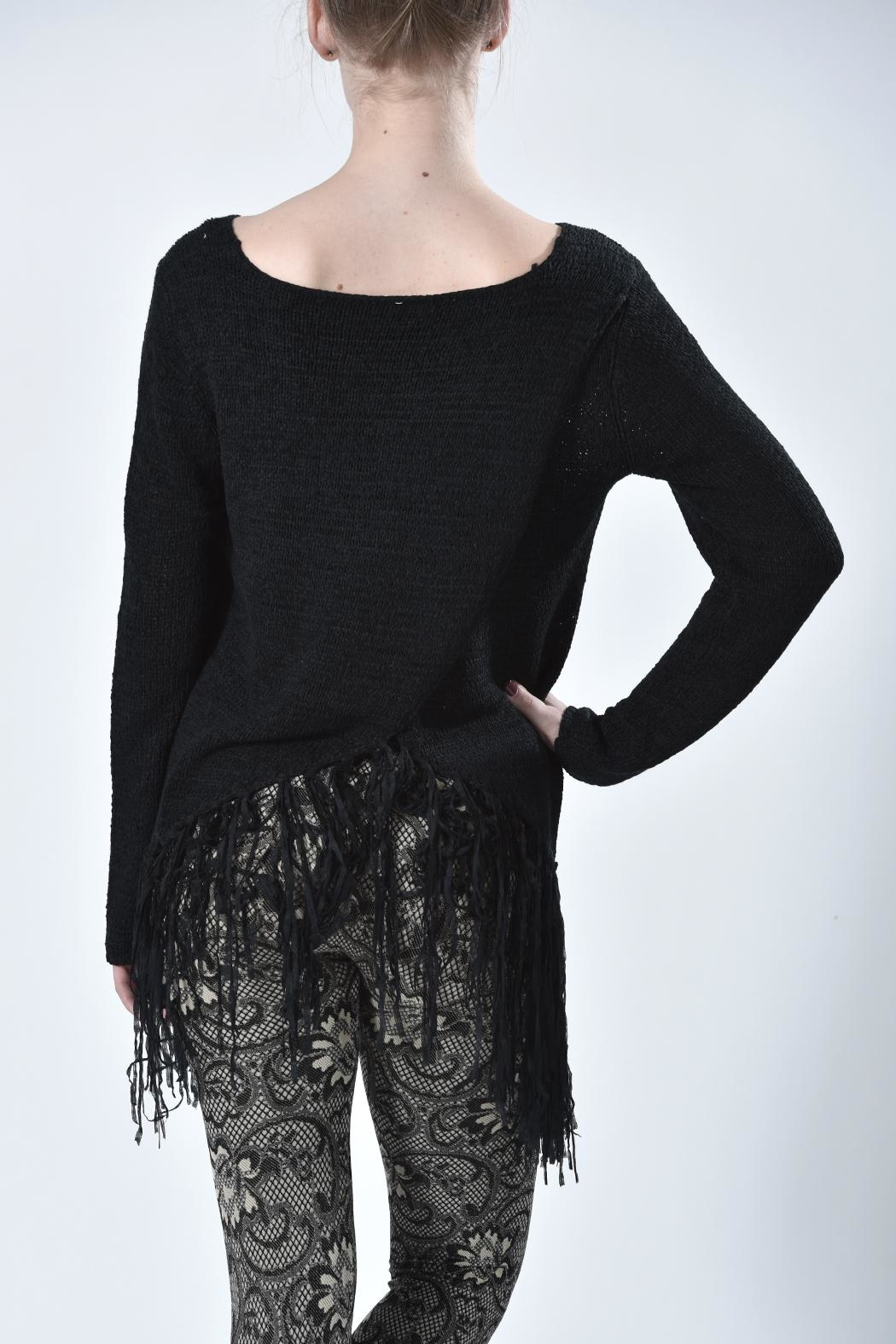 Mur Monoreno Fringed Sweater - Side Cropped Image