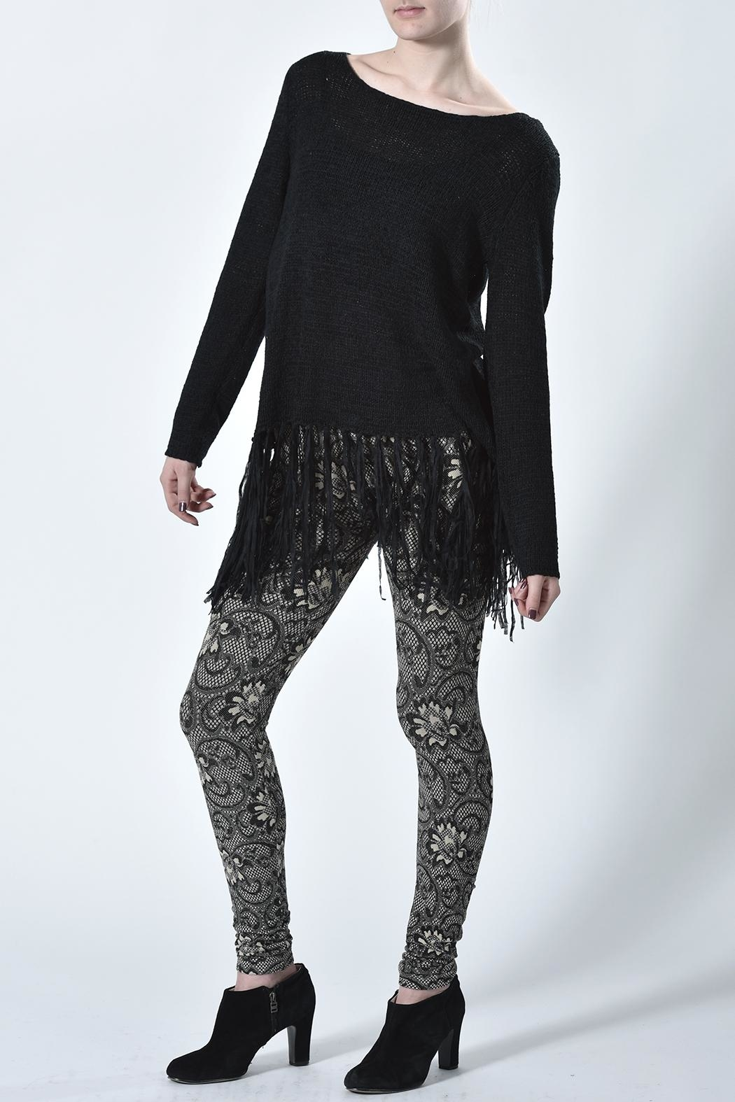 Mur Monoreno Fringed Sweater - Front Full Image
