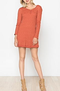 Mur Monoreno Knit Henley Tunic/sweater - Product List Image
