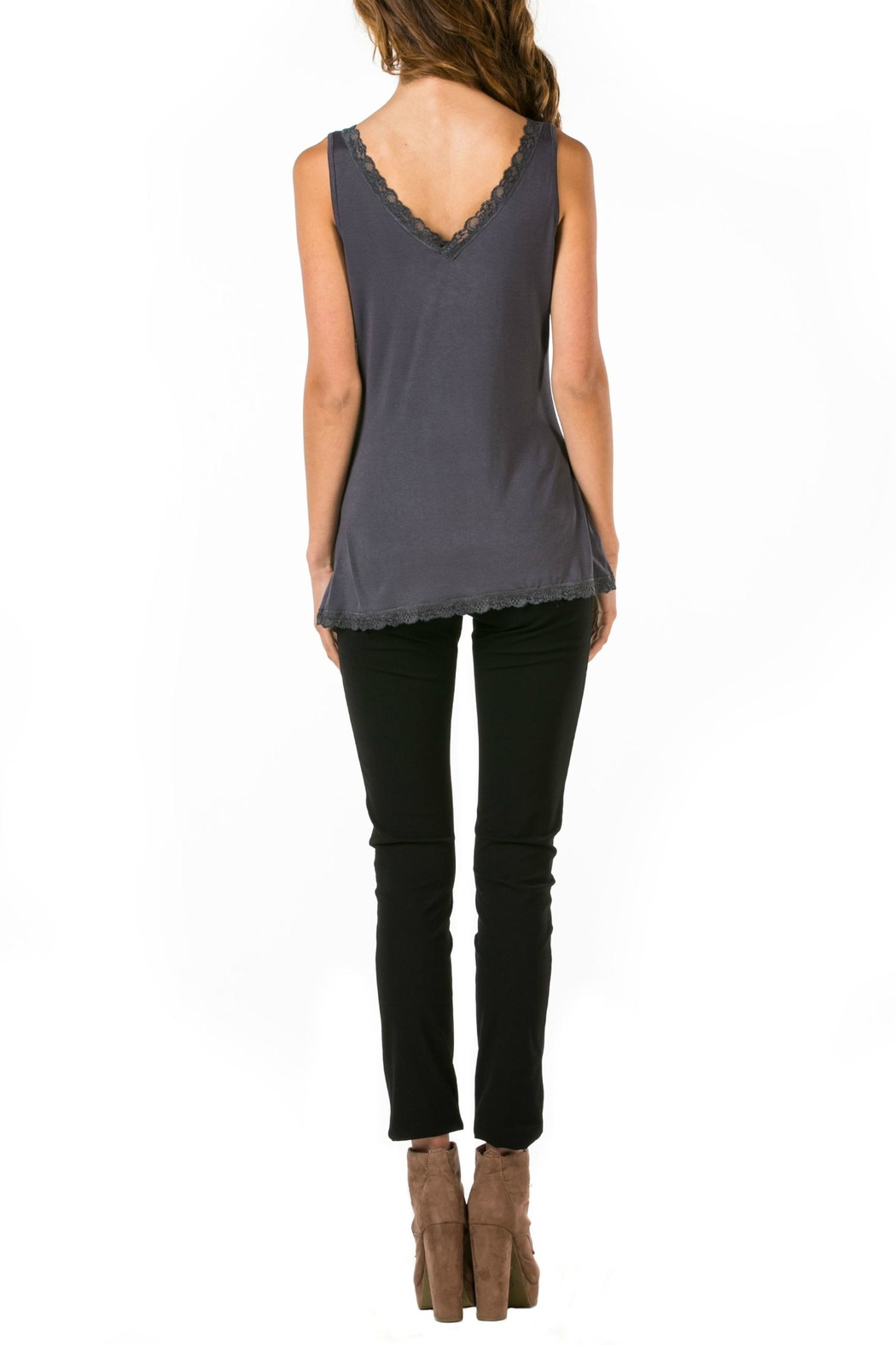 Mur Monoreno Lace Edged Top - Front Full Image