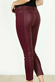 Mur Monoreno Leather Fabric Pants - Front full body