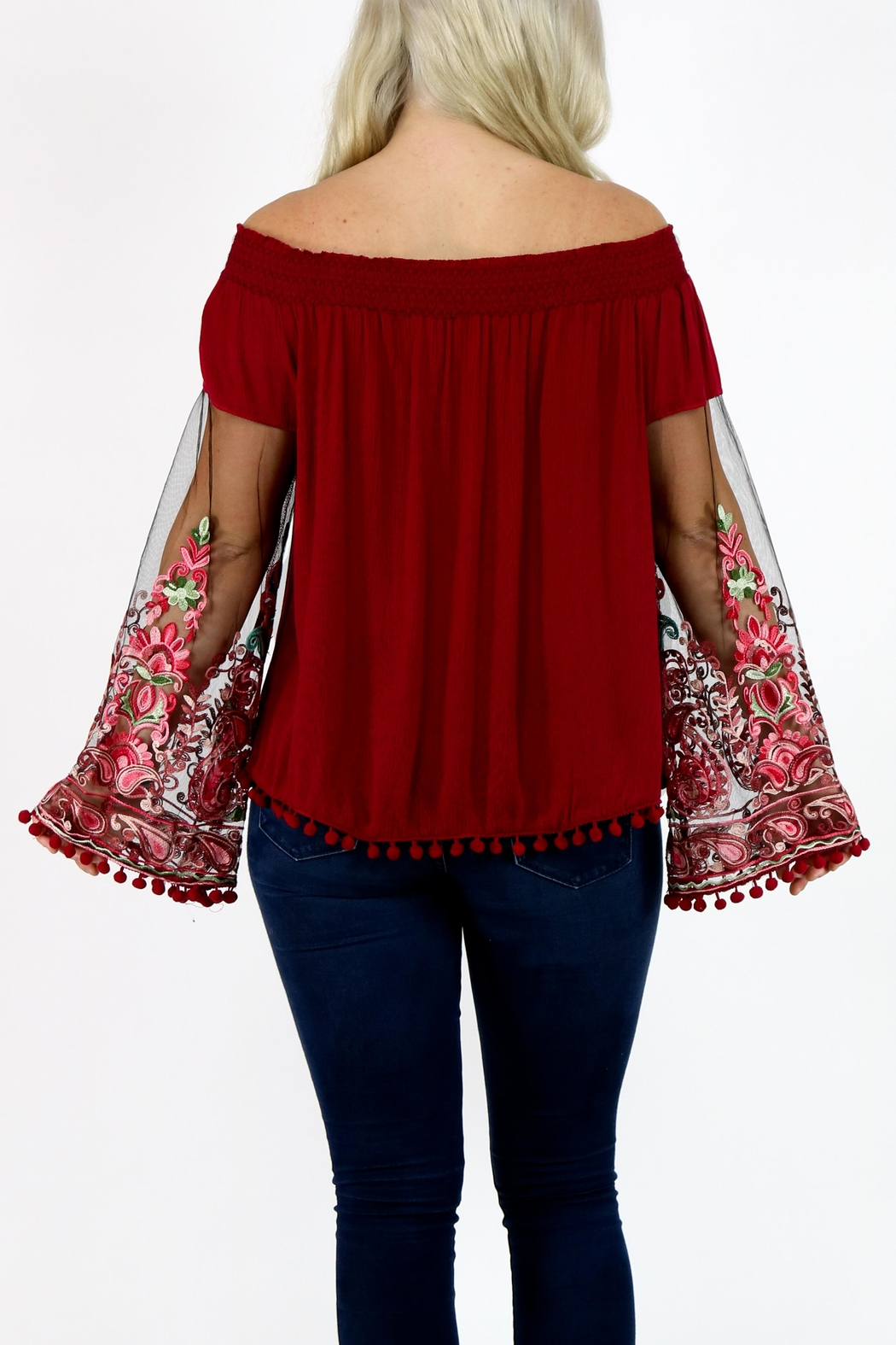 Mur Monoreno Off Shoulder Top - Side Cropped Image