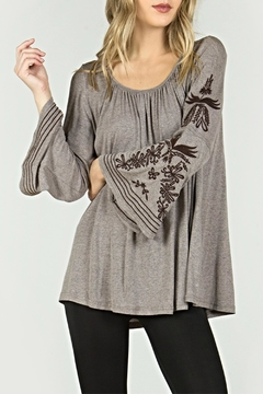 Mur Monoreno Peasant Embroidered Top - Product List Image