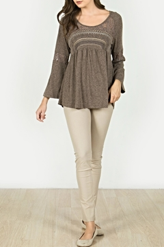Mur Monoreno Peasant Embroidery Top - Product List Image