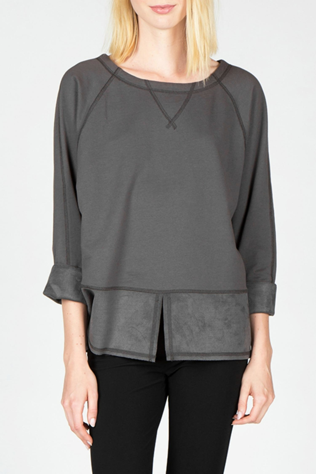 Mur Mur Faux Suede Top - Front Full Image